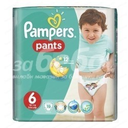 Pampers Памперс Гащи 6 /16+кг х19 бр./