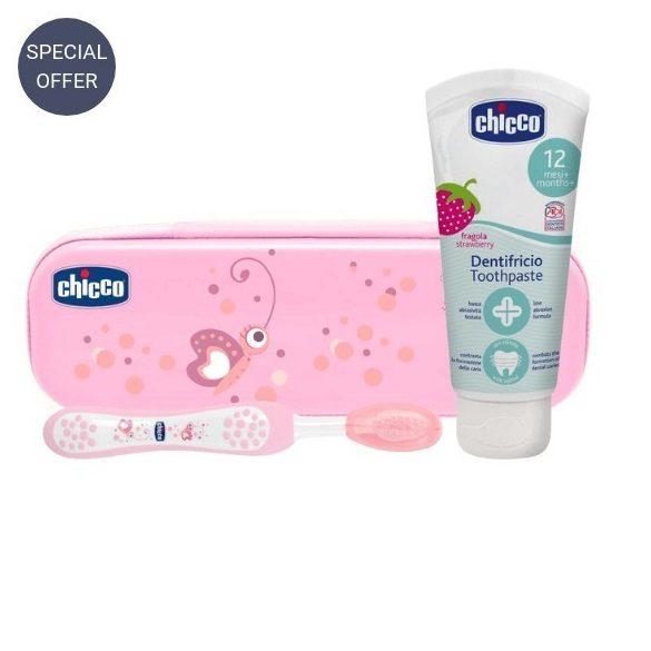 Chicco Комплект за почистване на зъбки/ Избери цвят/