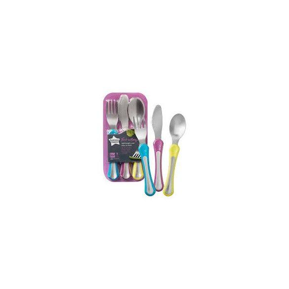 Tommee Tippee  Метални прибори за хранене 12+