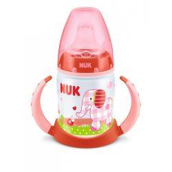 NUK First Choice РР шише 150мл с накрайник силикон за сок BABYGLUCK червен