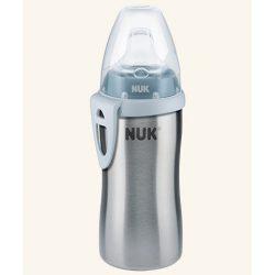 NUK Active Cup 215мл термо, силиконов накрайник - Син