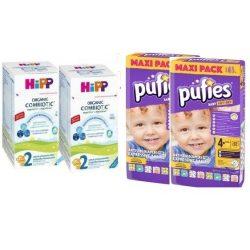HIPP Organic Combiotic  -2бр Х 800 гр. +2 бр.Pufies BABY ART