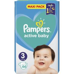 Pampers Active Baby Пелени 3 / 6-10кг/ 66бр.VPP