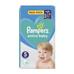 Pampers Active Baby Пелени 5 / 11-16кг/ 51бр.VPP