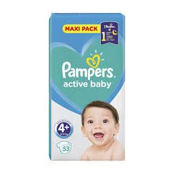 Pampers Active Baby Пелени 4+ / 10 - 15кг/ 53бр.VPP
