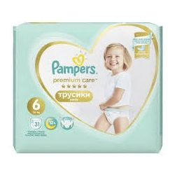 PAMPERS PREMIUM CARE Гащи 6 -  (15+ кг) 31 бр.