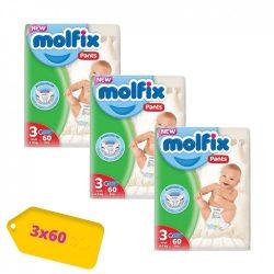 Molfix / Молфикс гащи 3 (4-9кг) 180бр.