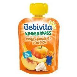 Bebivita - Забавна плодова закуска с ябълка, банани и праскова