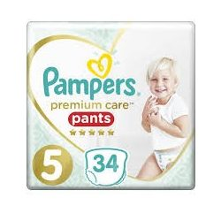 PAMPERS PREMIUM CARE Гащи  5-  (12-17 кг) 34 бр.