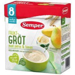 Семпер / Semper  Плодова каша с круши и банани (480 г) - 8 месеца