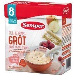 Семпер / Semper  Пълнозърнеста каша с круши, ябълки и малини с бифидус ефект (480 г) - 8 месеца