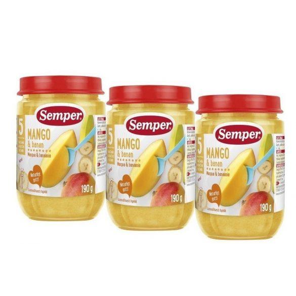 Semper Манго с банан - 3бр. Х 190 г 5 месеца