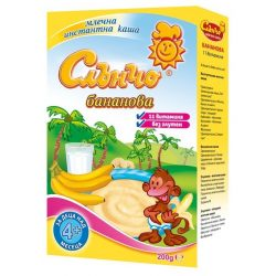 Слънчо Бананово - млечна каша без глутен,