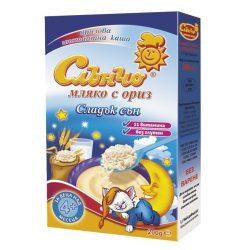 """СЛЪНЧО Млечна каша """"Сладък сън мляко с ориз"""