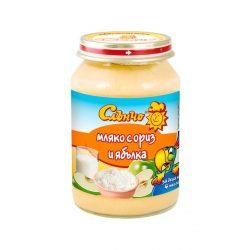 """Слънчо Бебешки десерт """"Мляко с ориз и ябълка"""""""