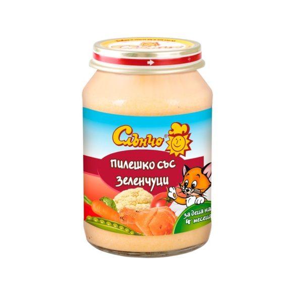 """Слънчо Бебешко пюре """"Пилешко със зеленчуци"""""""