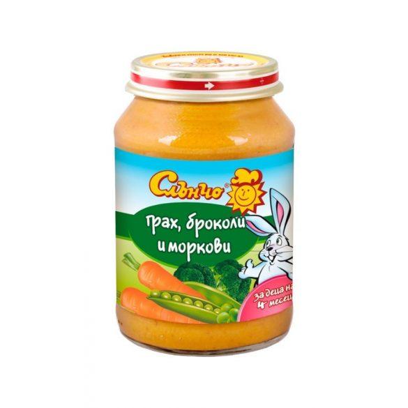 """Слънчо Бебешко пюре """"Грах, броколи и моркови"""""""