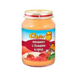 """Слънчо Бебешко пюре """"Телешко с домати и ориз"""""""