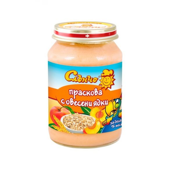 """Слънчо Бебешки десерт """"Праскова с овесени ядки"""""""