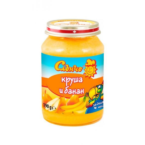 "Слънчо Бебешко пюре ""Круша и банан"""