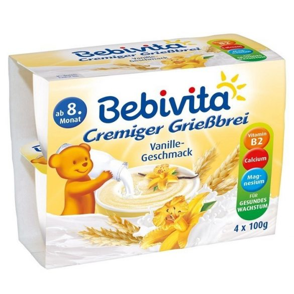 Bebivita Пудинг грис с ванилия 4х100гр.
