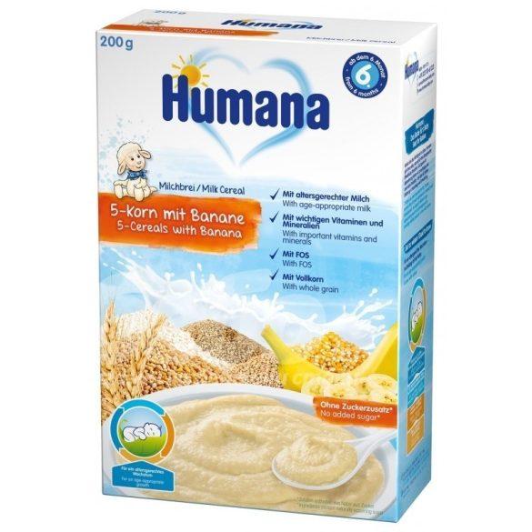 Humana Млечна каша 5-зърна с банан