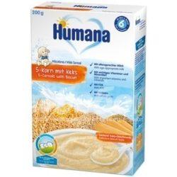 Humana Mлечна каша 5-зърна с бисквита