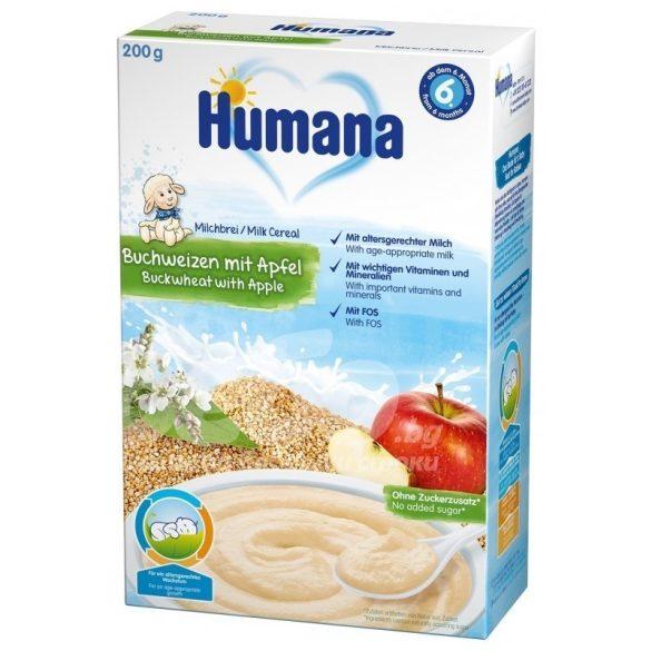 Humana Mлечна каша с елда и ябълка