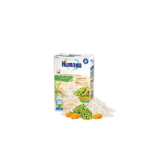 Humana Безмлечна каша с ориз.грах и моркови