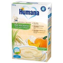 Humana Безмлечна каша ориз с тиква