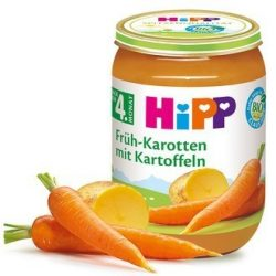 HIPP БИО Ранни моркови с картофи 190 гр.
