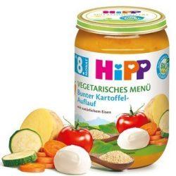 HIPP БИО вегетарианко меню зеленчуци на фурна с моцарела