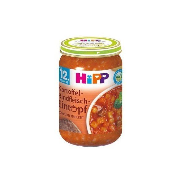 HIPP Био яхния с картофи и телешко 12м 250g