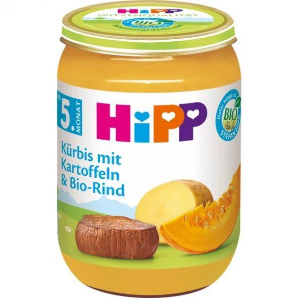 HIPP БИО тиква с картофи и  говеждо месо 5м 190гр