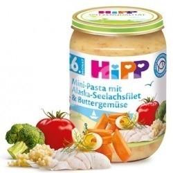 HIPP Рибно меню паста с филе от треска от Аляска и зеленчуци в масло 6м