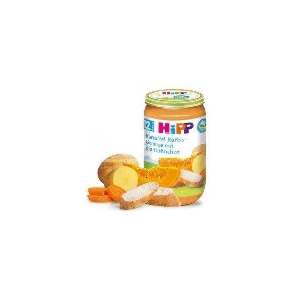 HIPP Био Картофи и тиква със зеленчуци и пиле 12м 250g