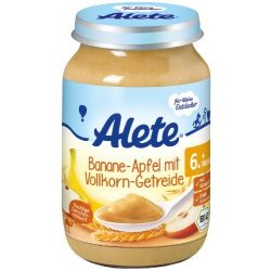 Nestlé Alete БИО Пълнозърнеста каша с банан и ябълка