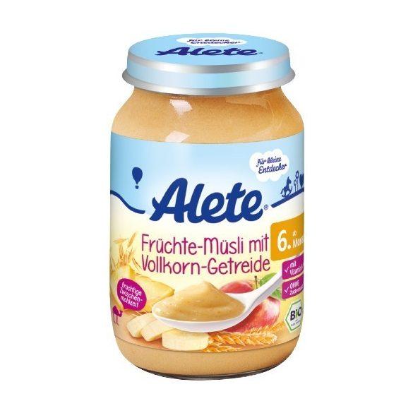 Nestlé Alete БИО Пълнозърнеста каша с плодово мюсли