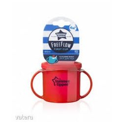 Чаша Essentials First Cup,Tommee Tippee 4м+ - Червен