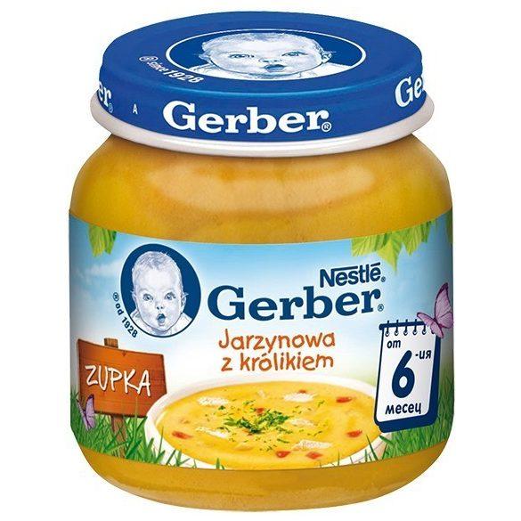GERBER  Пюре Супа заешко със зеленчуци