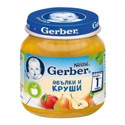 GERBER  Пюре Ябълки и круши