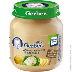 GERBER - Гербер пюре Карфиол и картоф, 130 g