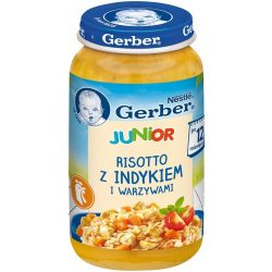 GERBER  Junior Пюре Ризото с пуешко и зеленчуци