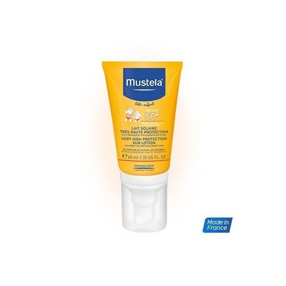 Mustela Слънцезащитен лосион за лице с много висока защита 40ml