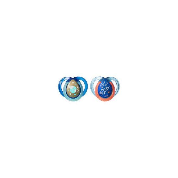 Tommee Tippee Ортодонтични залъгалки - NIGHT TIME 0-6м, 2 бр