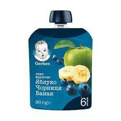 GERBER Ябълка, боровинка и банан