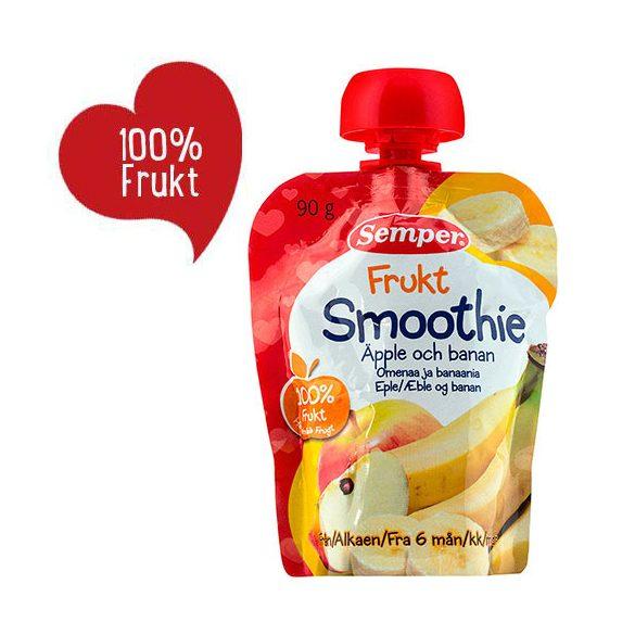Семпер / Semper Смути Плодово - ябълка и банан 6м-90гр