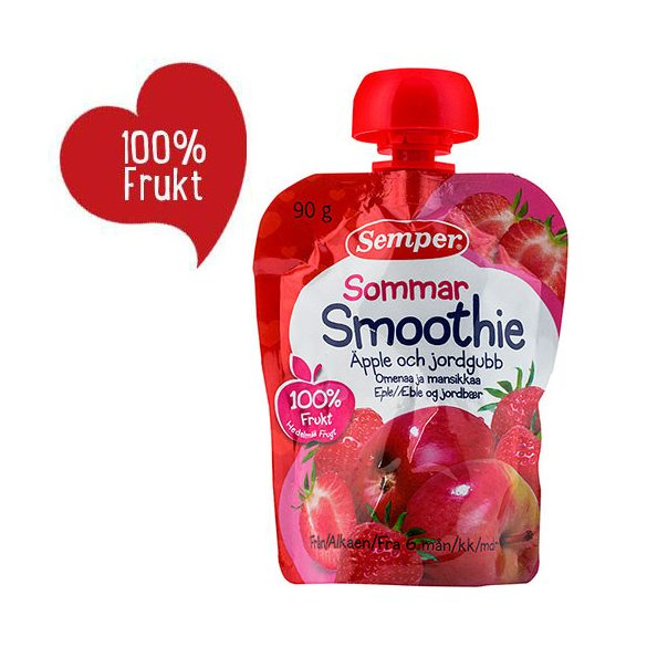 Семпер / Semper Смути Лято - ябълка и ягода 6м-90гр