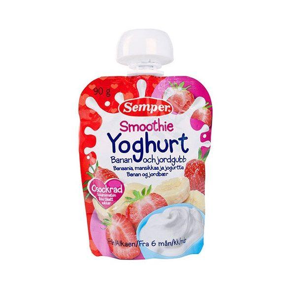 Семпер / Semper Смути Йогурт - банан и ягода 6м-90гр