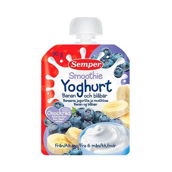 Семпер / Semper Смути Йогурт - банан и боровинки 6м-90гр